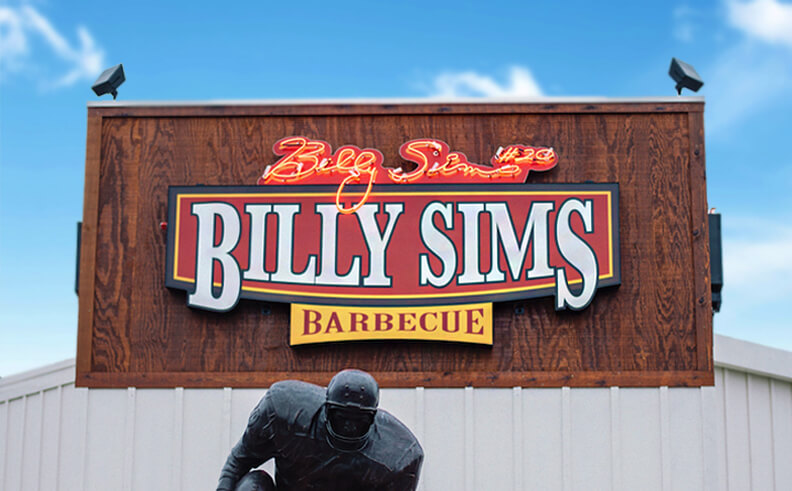 Billy Sims Barbecue teams up with SiteZeus for a site selection touchdown